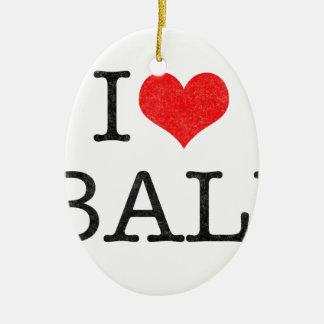 I LOVE BALI CHRISTMAS TREE ORNAMENTS
