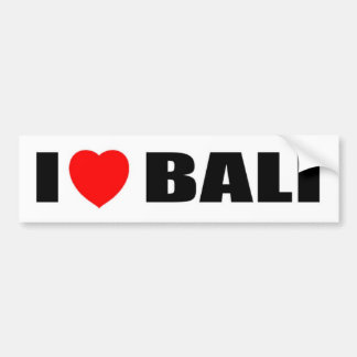 I Love Bali, Indonesia Bumper Sticker