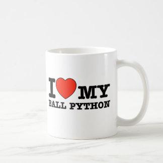 I Love ball python Coffee Mug