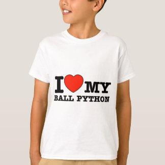 I Love ball python T-Shirt