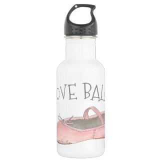 I Love Ballet Ballerina Pink Slipper Dance Teacher 532 Ml Water Bottle