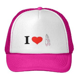 I Love Ballet Mesh Hats
