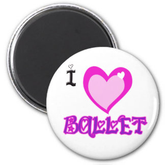 I LOVE Ballet 6 Cm Round Magnet