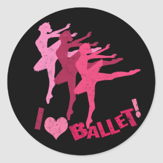 I love Ballet Round Sticker