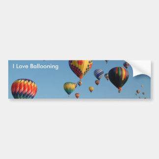 I Love Ballooning Bumper Sticker
