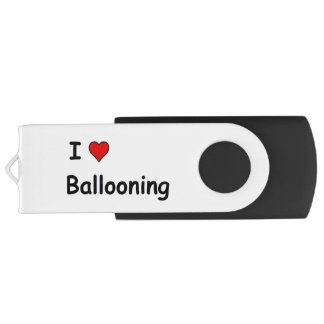 I Love Ballooning Swivel USB 3.0 Flash Drive