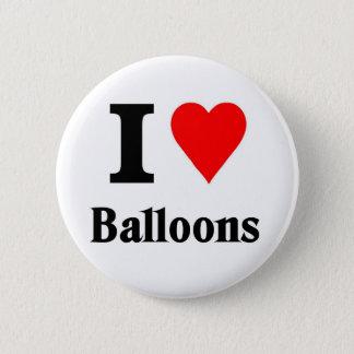I love balloons 6 cm round badge