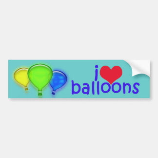 I Love Balloons_Bumper Sticker Bumper Sticker