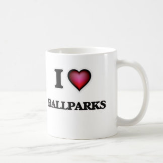 I Love Ballparks Coffee Mug