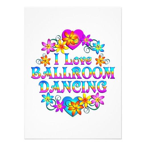 I Love Ballroom Dancing Custom Invites