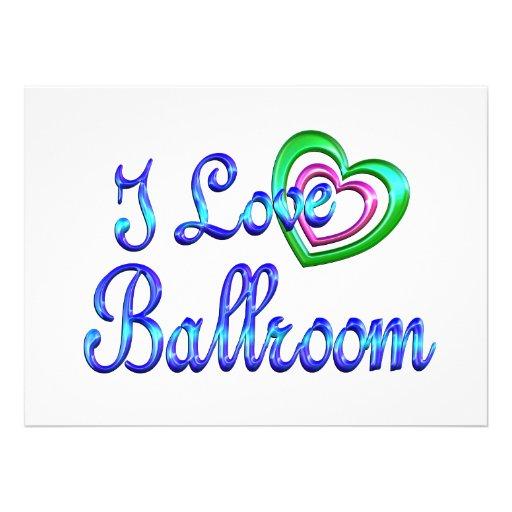 I Love Ballroom Personalized Invite