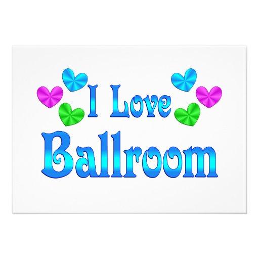 I Love Ballroom Invite