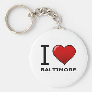 I LOVE BALTIMORE,MD - MARYLAND BASIC ROUND BUTTON KEY RING