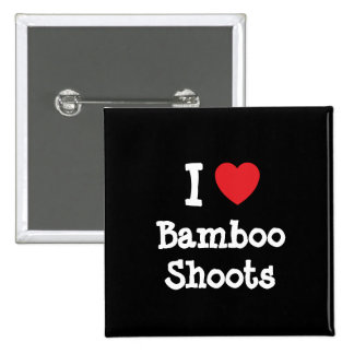 I love Bamboo Shoots heart T-Shirt Pin