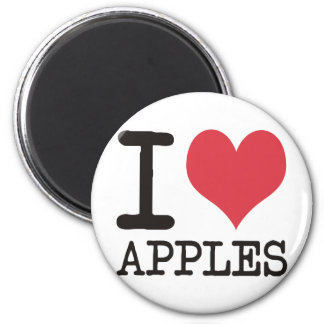 I Love Bananas - Apples - Bread Products & Designs Fridge Magnet