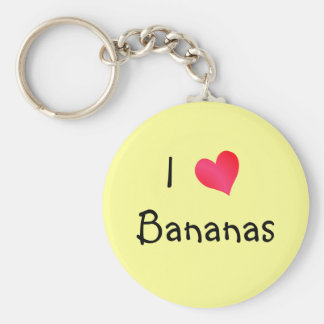 I Love Bananas Key Ring