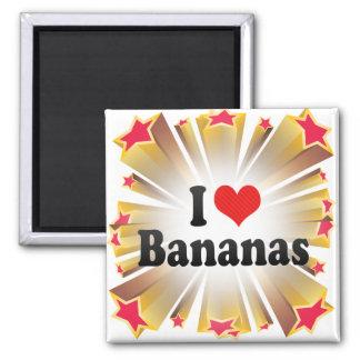 I Love Bananas Magnet