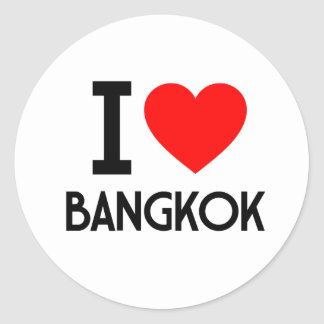 I Love Bangkok Classic Round Sticker