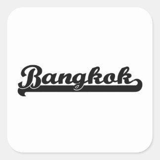 I love Bangkok Thailand Classic Design Square Sticker