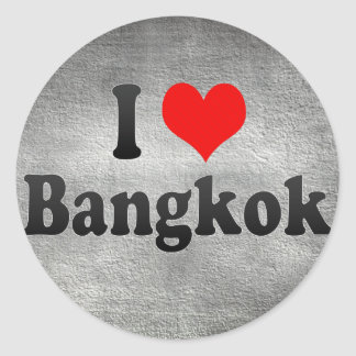 I Love Bangkok, Thailand Classic Round Sticker
