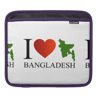I love Bangladesh with map Sleeve For iPads