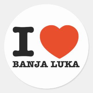 I Love Banja Luka Classic Round Sticker