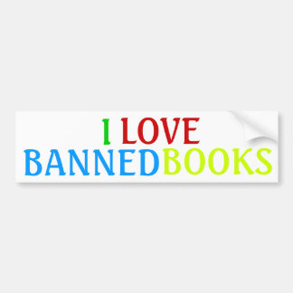 I, LOVE, BANNED, BOOKS BUMPER STICKER