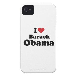 I LOVE BARACK OBAMA (2) -.png iPhone 4 Case
