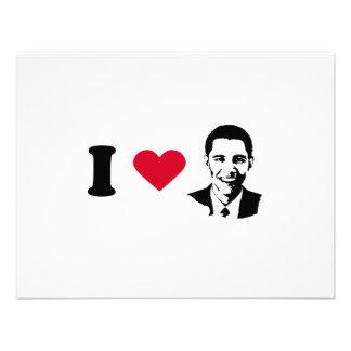 I Love Barack Obama T-shirt Custom Announcements