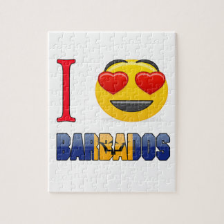 I love BARBADOS. Jigsaw Puzzle