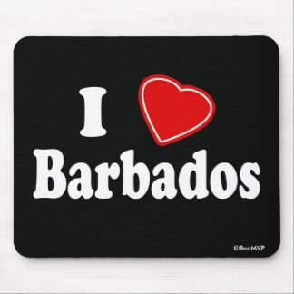 I Love Barbados Mouse Pad