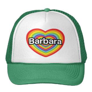 I love Barbara, rainbow heart Cap