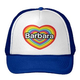 I love Barbara, rainbow heart Mesh Hats