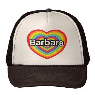 I love Barbara, rainbow heart Hat