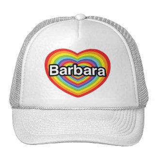 I love Barbara, rainbow heart Mesh Hat