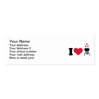 I love barbecue BBQ Business Card Template