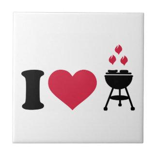 I love barbecue BBQ Ceramic Tile