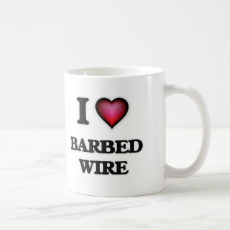 I Love Barbed Wire Coffee Mug