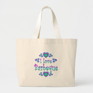 I Love Barbeque Canvas Bag