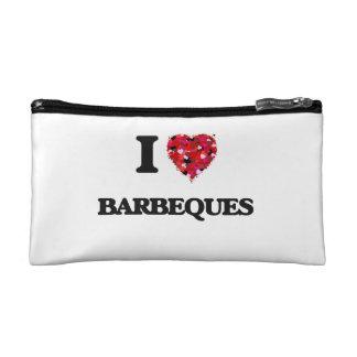 I Love Barbeques Makeup Bags