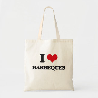 I Love Barbeques Tote Bags