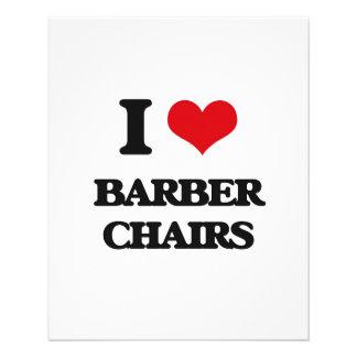 I Love Barber Chairs Custom Flyer