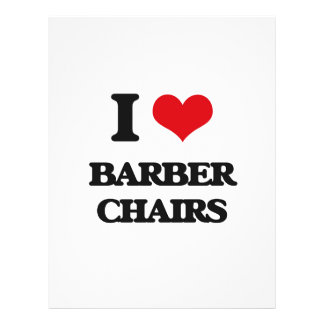 I Love Barber Chairs Full Color Flyer