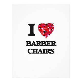 I Love Barber Chairs 21.5 Cm X 28 Cm Flyer