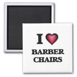 I Love Barber Chairs Magnet