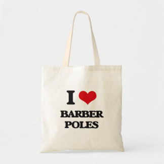 I Love Barber Poles Canvas Bag