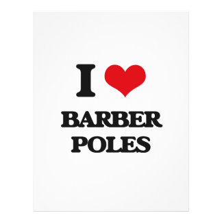 I Love Barber Poles Personalized Flyer