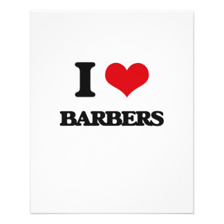 I love Barbers Full Color Flyer