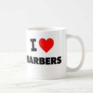I Love Barbers Basic White Mug