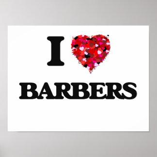 I Love Barbers Poster